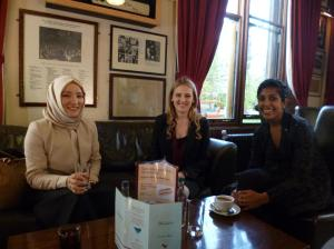 OxWip committee awaiting SR Pandith's arrival at the Oxford Union.